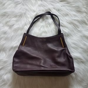 Vince Camuto Plum Leather 3-Pocket Shoulder Bag